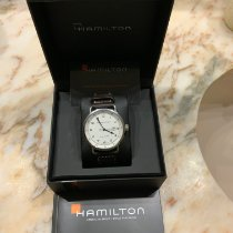 Hamilton Khaki Navy Pioneer pre-owned 43mm Silver Date Leather