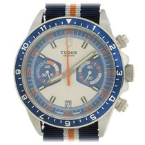 Tudor Heritage Chrono Blue pre-owned 42mm Blue Chronograph Date Buckle