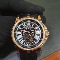 Roger Dubuis Excalibur Pозовое золото 42mm Черный