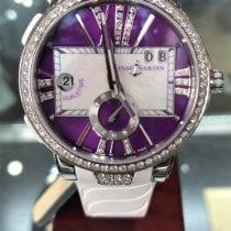 Ulysse Nardin Executive Dual Time Lady Steel 40mmmm Purple Roman numerals United States of America, Florida, Ft lauderdale