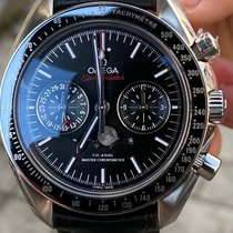 Omega Speedmaster Professional Moonwatch Moonphase pre-owned Black Moon phase Chronograph Date Leather