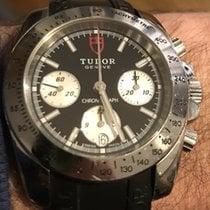 Tudor Sport Chronograph Stahl 41mm Schwarz Keine Ziffern
