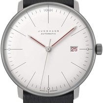 Junghans Steel Automatic White No numerals 38mm new max bill Automatic