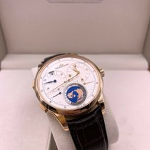 Jaeger-LeCoultre Rose gold Manual winding Silver Arabic numerals 42mm pre-owned Duomètre