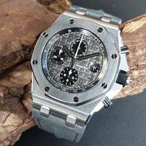Audemars Piguet Royal Oak Offshore Chronograph gebraucht 42mm Grau Chronograph Datum Leder