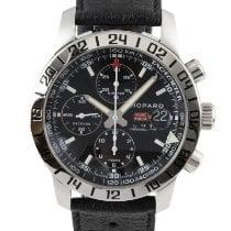 Chopard Mille Miglia occasion 42mm Noir Chronographe Date GMT Cuir