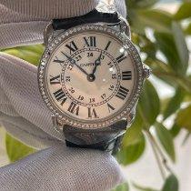 Cartier White gold Quartz Silver Roman numerals 29mm pre-owned Ronde Louis Cartier