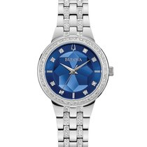 Bulova Crystal Steel 32mm Blue No numerals United States of America, New York, Bellmore