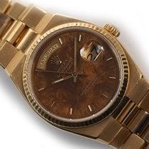 Rolex Day-Date Oysterquartz Żółte złoto 36mm Brązowy Bez cyfr