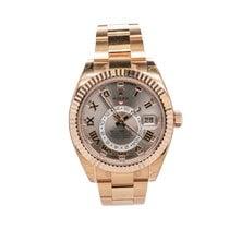 Rolex Sky-Dweller Pозовое золото 42mm Розовый Римские