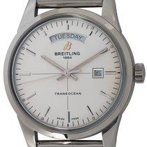 Breitling Transocean Day & Date Сталь 43mm Cеребро