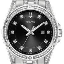 Bulova Crystal Steel 43mm Black No numerals United States of America, New York, Bellmore