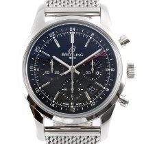 Breitling Transocean Chronograph GMT Сталь 43mm Черный