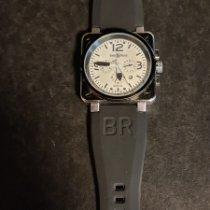 Bell & Ross Сталь Кварцевые Белый Aрабские подержанные BR 01-94 Chronographe
