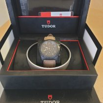 Tudor Fastrider Black Shield occasion Noir Chronographe Date Cuir