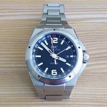 IWC Ingenieur Dual Time Steel 43mm Black No numerals