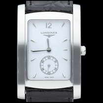 Longines DolceVita Staal 26mm Wit Geen cijfers
