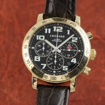 Chopard Yellow gold Automatic Black 40.5mm pre-owned Mille Miglia