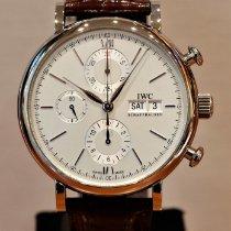 IWC Portofino Chronograph Stahl 42mm Silber Keine Ziffern Schweiz, Zürich