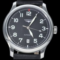Longines Master Collection pre-owned 38.5mm Black Date Ceramic