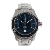 TAG Heuer Link pre-owned 42mm Blue Steel