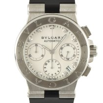 Bulgari Diagono Steel 35.5mm Mother of pearl