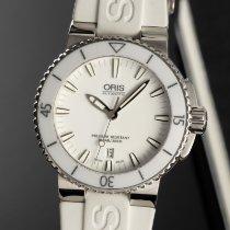 Oris Aquis Date Stål 42.5mm Hvid