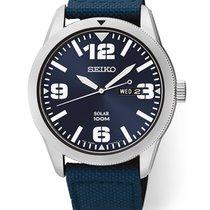 Seiko Solar Steel 43mm Blue Arabic numerals United States of America, Florida, Sarasota