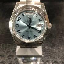 Rolex Day-Date II Platino 41mm Plata Arábigos