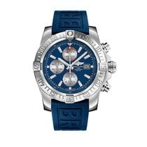Breitling Super Avenger II Steel 48mm Blue No numerals United States of America, New Jersey, Edgewater