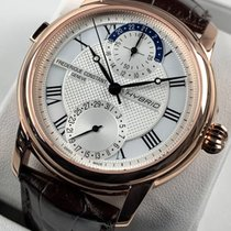 Frederique Constant Yellow gold Automatic Silver No numerals pre-owned Manufacture Classic