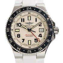 Breitling Superocean GMT Steel 41mm Silver United States of America, Florida, Boca Raton