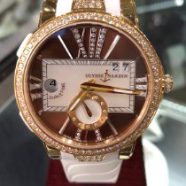 Ulysse Nardin Executive Dual Time Lady Rose gold 40mmmm Mother of pearl Roman numerals United States of America, Florida, Ft lauderdale