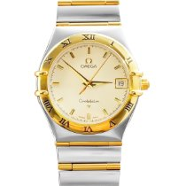 Omega Constellation Quartz Gold/Steel White No numerals United States of America, Florida, Miami