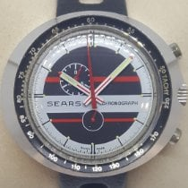 Heuer Steel Manual winding Black No numerals 45mm pre-owned