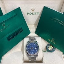 Rolex Oyster Perpetual Date Steel 34mm Blue United States of America, New York, New York