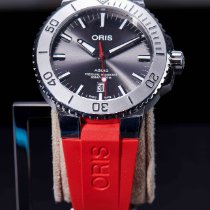 Oris Aquis Date Steel 43.5mm Grey No numerals