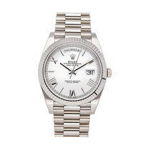 Rolex Day-Date 40 pre-owned 40mm White Date Fold clasp
