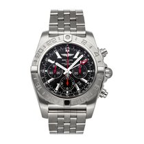 Breitling Chronomat GMT pre-owned 47mm Black Chronograph Date GMT Tachymeter Fold clasp