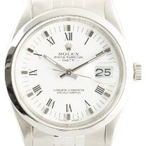 Rolex Oyster Perpetual Date Otel 34mm Alb
