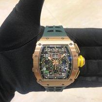 Richard Mille RM 011 Rose gold 49.94mm Transparent
