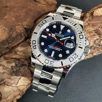 Rolex Yacht-Master 40 gebraucht 40mm Blau Datum Stahl