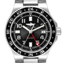 Breitling Automatic Black Arabic numerals pre-owned Superocean GMT