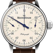 Meistersinger Paleograph SC103 New Steel Manual winding