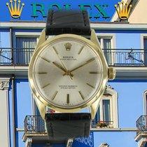 Rolex Oyster Perpetual 34 Gelbgold 35mm Silber Keine Ziffern Deutschland, München