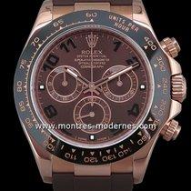 Rolex Or rose Remontage automatique Brun 40mm occasion Daytona