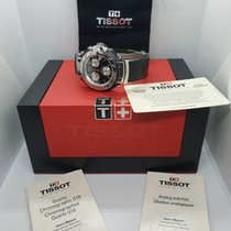 Tissot T-Race gebraucht 44mm Schwarz Minutenrepetition Chronograph Datum Leder