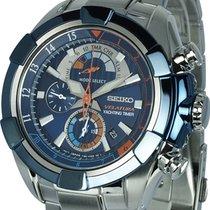 Seiko Velatura Chronograph Acier 47mm Bleu