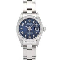 Rolex Oyster Perpetual Lady Date Сталь 26mm Синий