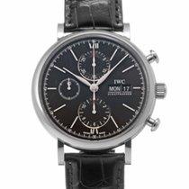 IWC Portofino Chronograph Сталь 42mm Черный